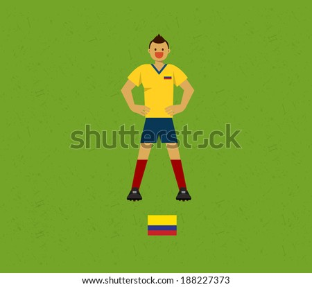 Colombia Soccer Tables  - stock vector