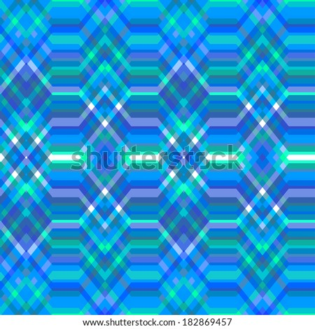 Color Abstract Retro Vector Striped Background, Fashion Zigzag Seamless Pattern of Blue Stripes - stock vector