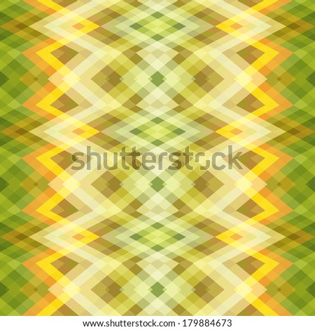 Color Abstract Retro Vector Striped Background, Fashion Zigzag Seamless Pattern of Yellow and Green Stripes - stock vector