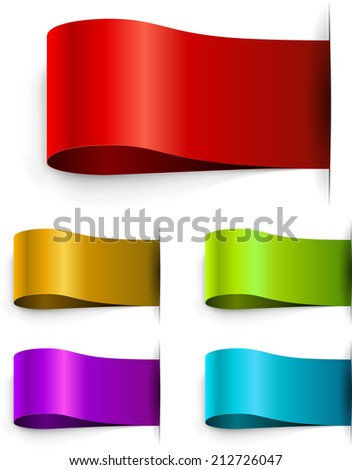 Color blank tags template isolated on white background. - stock vector