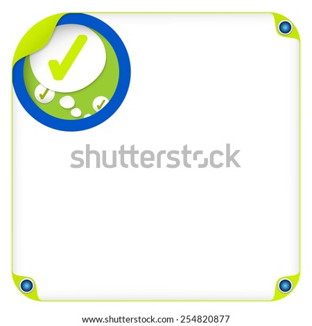 color box for entering text and speech bubble and check box - stock vector