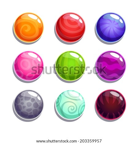 Color bubbles\balls set on the white background, isolated vector - stock vector