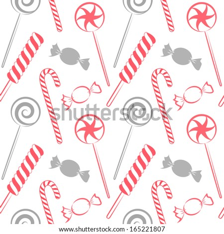 Color candy seamless pattern, vector - stock vector