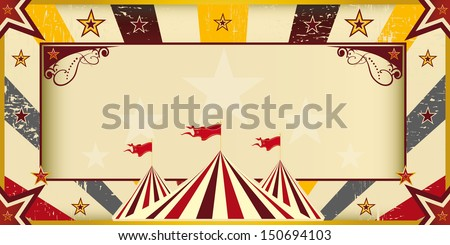 Color circus invitation. An invitation card for your circus company. - stock vector
