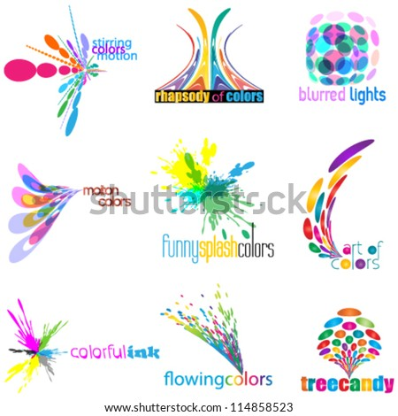 color concept logo set (icon set) - stock vector