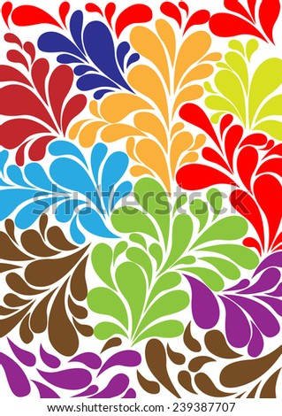Color cucumbers retro background pattern in vector - Illustration - stock vector