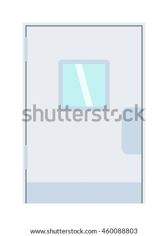 Color door isolated on white. Colorful front door to house and building in flat design style isolated. Vector illustration door isolated modern new decoration open elegant room lock - stock vector