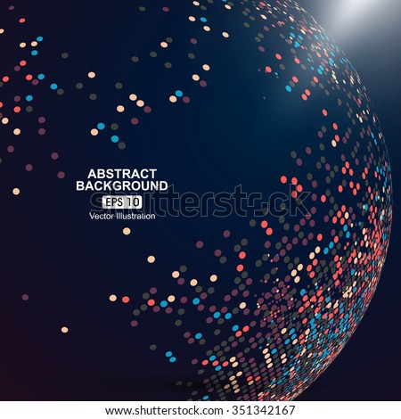 Color dot composition abstract graphic. - stock vector