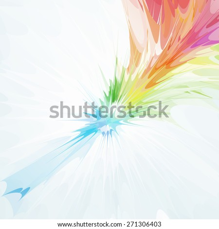 Color explosion, abstract background. Vector illustration, EPS10. - stock vector