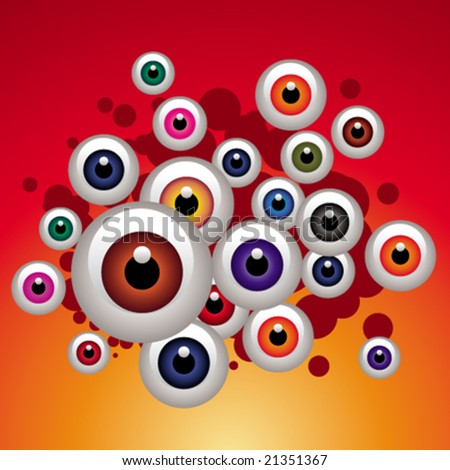 Color eyes fly - stock vector