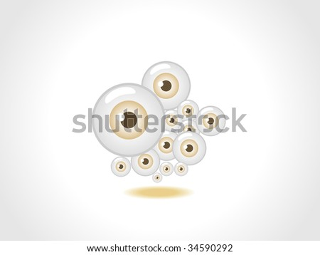 Color eyes fly icon , vector illustration - stock vector