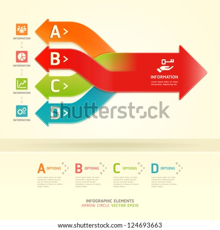 Color Gears Infographics Options Banner. Vector illustration. can be used for workflow layout, diagram, step options , number Options, web design, infographics. - stock vector