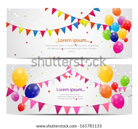 Color glossy balloons card background vector illustration - stock vector