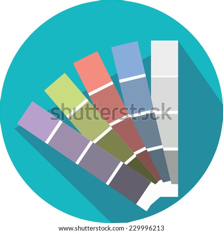 Color guide icon - stock vector