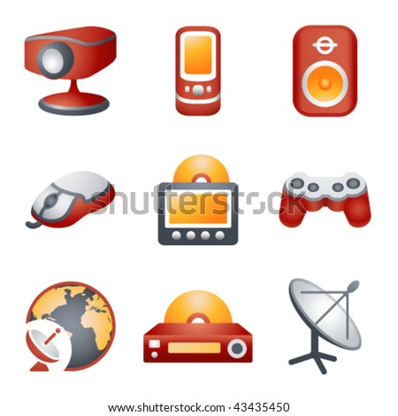 Color icons for website 21 - stock vector