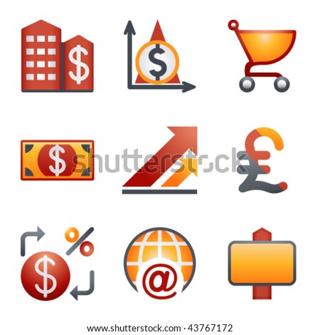 Color icons for website 23 - stock vector