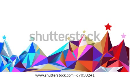 Color mountains. Vector illustration - stock vector