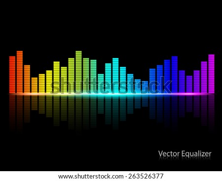 Color Music Equalizer,Vector illustration. - stock vector