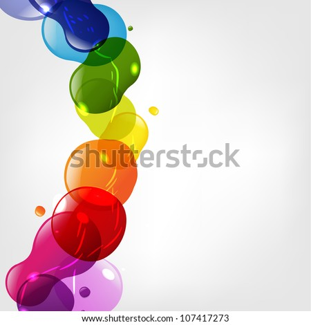 Color Neon Blobs With Bokeh, Isolated On Grey Background, Vector Illustration - stock vector