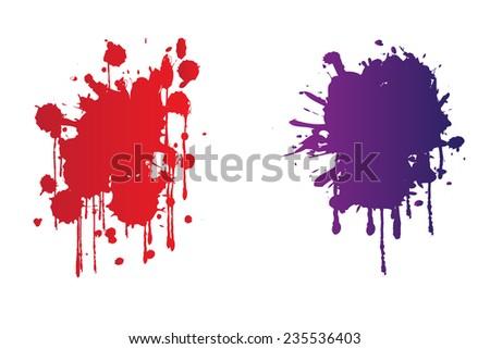 Color paint splash Splash vector. - stock vector