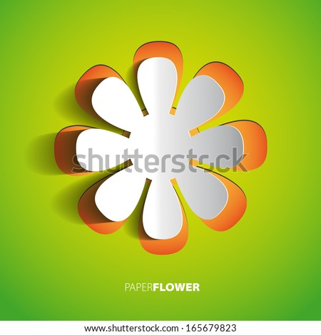 Color paper flower cutout background eps10 - Vector illustration - stock vector