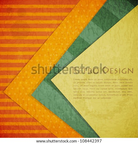 Color Paper Retro Background - Vector Illustration - stock vector