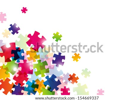 Color puzzle background for Your design - stock vector