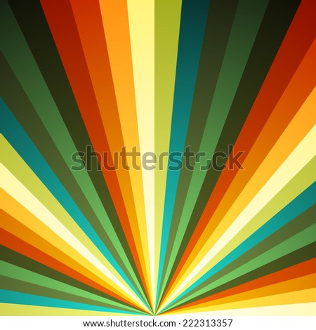 Color radial rays vector background. - stock vector