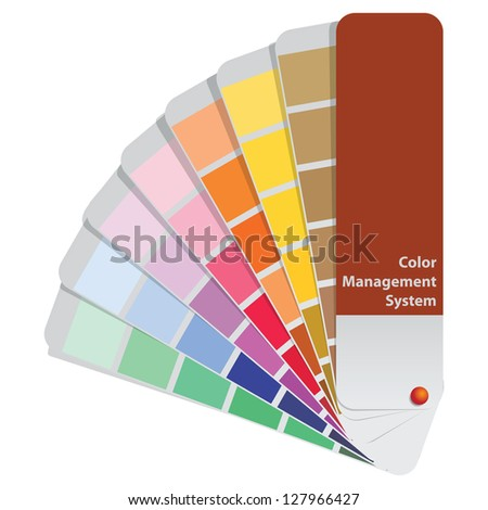 Color samples to determine preferences in the printing industry. Vector illustration. - stock vector