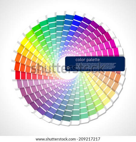 color scale - stock vector