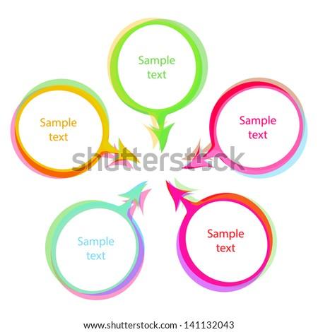 color speech bubbles vector set - stock vector