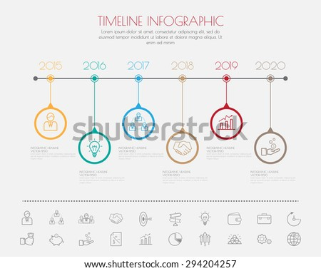 Color Step Design clean number timeline template/graphic or website - stock vector