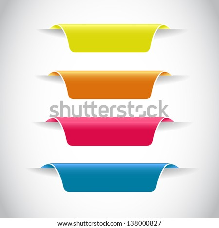 color sticker/label for your (web) page - stock vector
