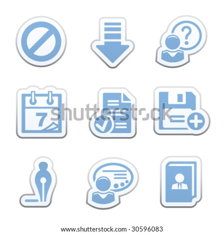 Color sticker set 2 - stock vector