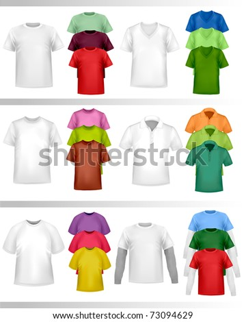 Color t-shirt design template. Vector illustration. - stock vector