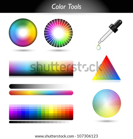 Color tools - stock vector