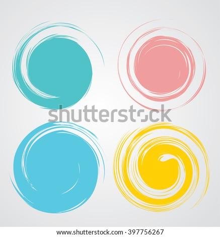 Color Tools Palette. Paint Color Spectrum. Colorful Dots Collection. Vector. - stock vector