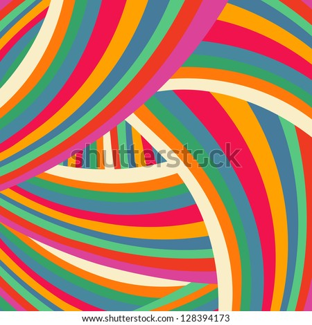 Color wave abstract background-vector - stock vector