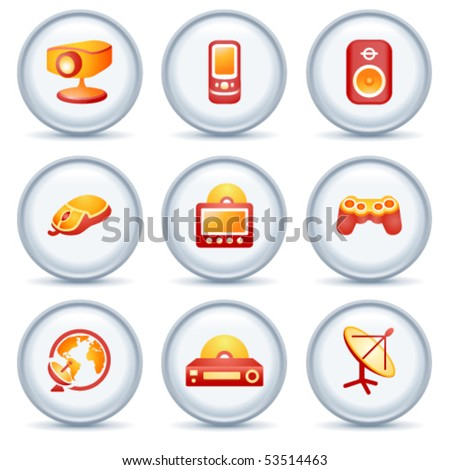 Color web icons 21 - stock vector