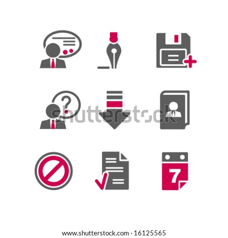 Color web icons, set 2 - stock vector