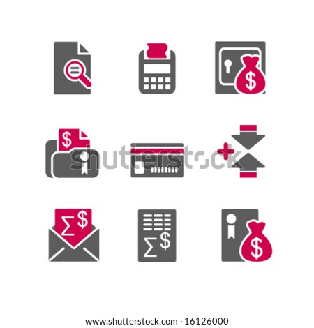 Color web icons, set 14 - stock vector