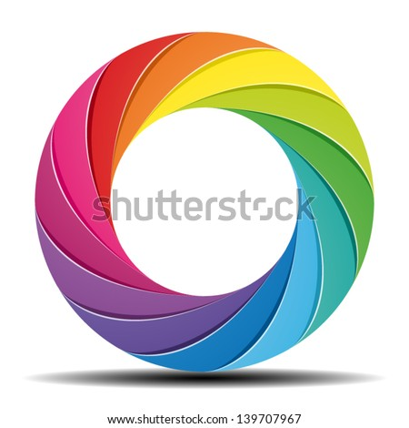 Color wheel - stock vector