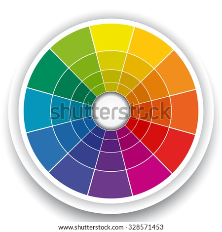 Color Wheel Isolated on White - stock vector