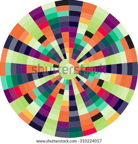 Color wheels. Vector illustration - stock vector
