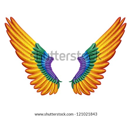 color wings - stock vector