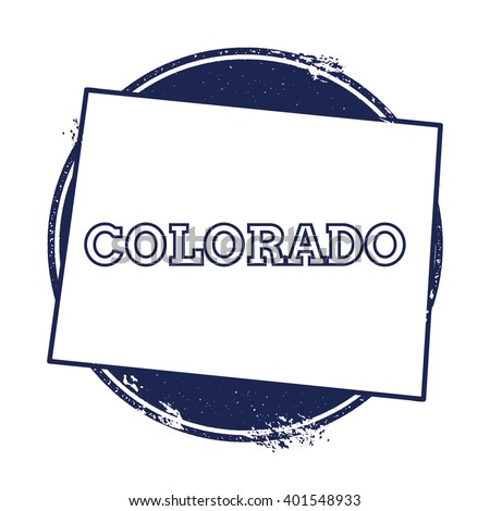 Colorado vector map. Grunge rubber stamp with the name and map of Colorado, vector illustration. Can be used as insignia, logotype, label, sticker or badge of USA state. - stock vector