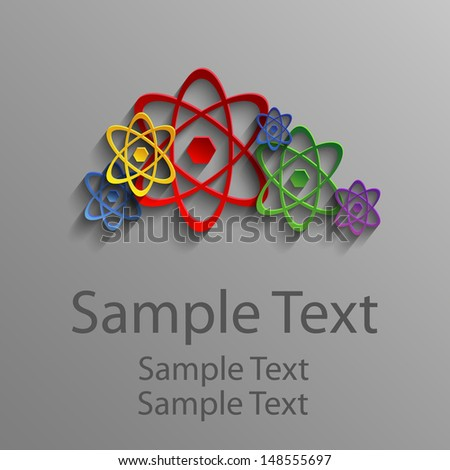 Colored abstract atoms - stock vector