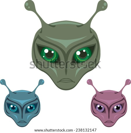 Colored Aliens - stock vector