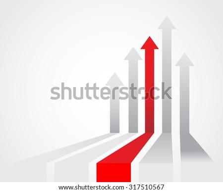 Colored arrows - stock vector
