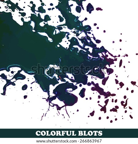 Colored blots on the white background - Vector illustration. - stock vector